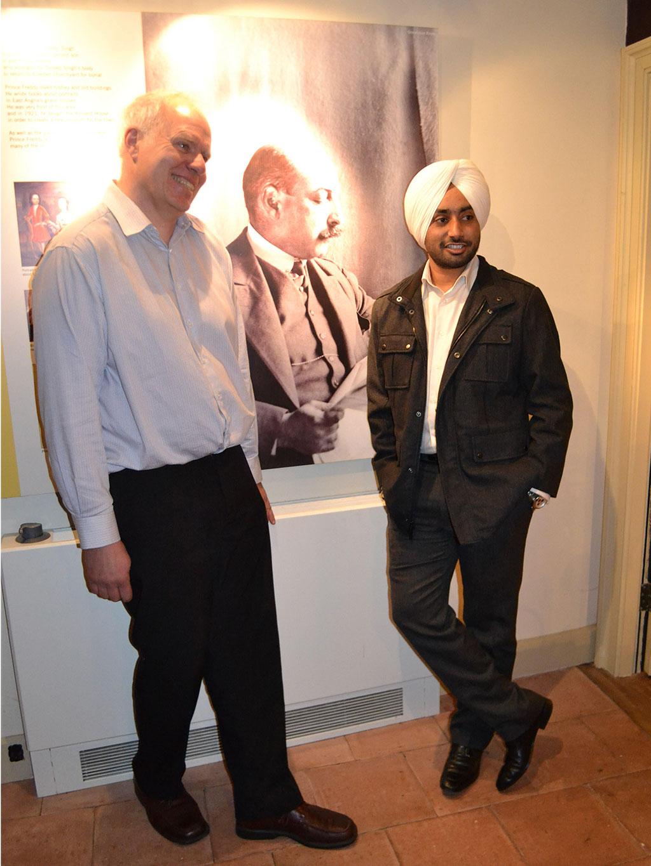 Punjabi singer Satinder Sartaaj on a VIP visit to Thetford Museum