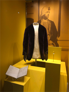 The Velvet Jacket of Maharajah Duleep Singh with his diary
