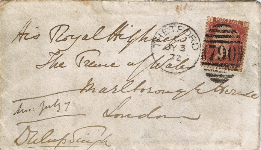 Signed Envelope to the Prince of Wales
