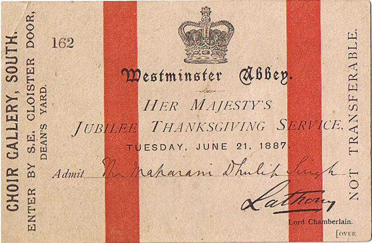 Queen Victoria's Jubilee Invitation