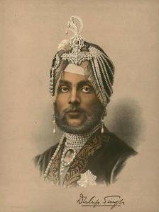 Lithograph of Maharajah Duleep Singh in 1859