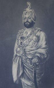 Engraving of Maharajah Duleep Singh in 1885