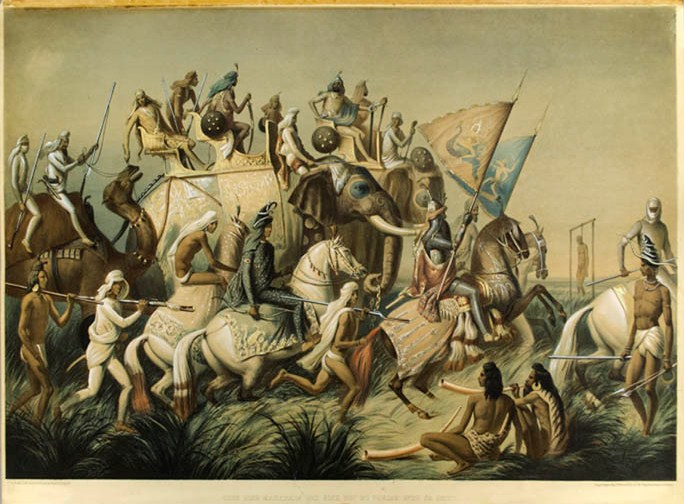 Maharajah Sher Singh on a Hunt in 1842